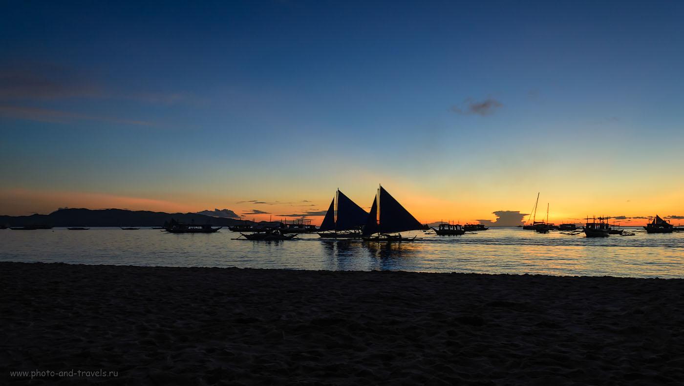 Фотография 12. Прощальный вечер на острове Боракай (Boracay). Данный снимок может служить финалом к фотоотчету об отдыхе на Филиппинах.