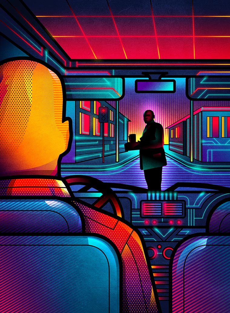 One Point Perspective - Alternative movie posters between pop art and 80s