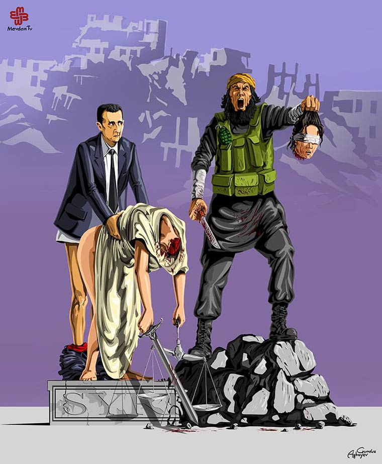 La Justice est morte - Les illustrations satiriques de Gunduz Agayev