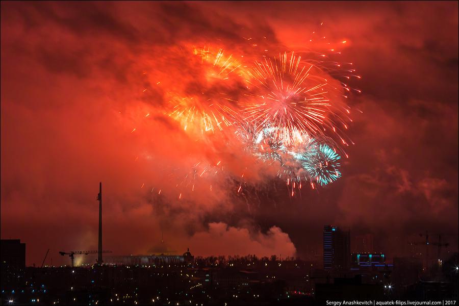 Салют на 23 февраля в Москве