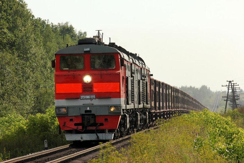 3ТЭ10МК-1215 на перегоне Паньково - Лужки-Орловские