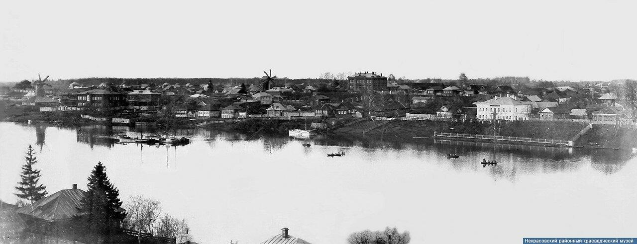Панорама во время разлива р. Солоницы