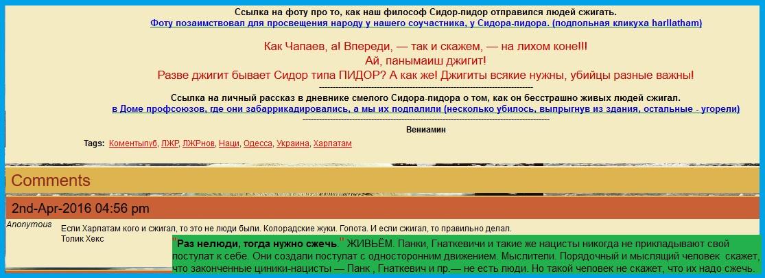 Панк про то, как Харлатам сжёг живых людей 2-го мая 2014-го года в Одессе.