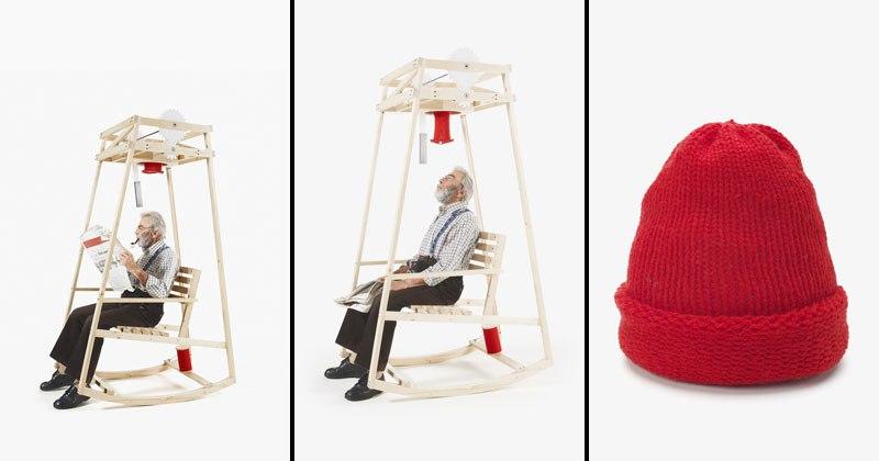 Кресло, качаясь в котором можно связать шапку