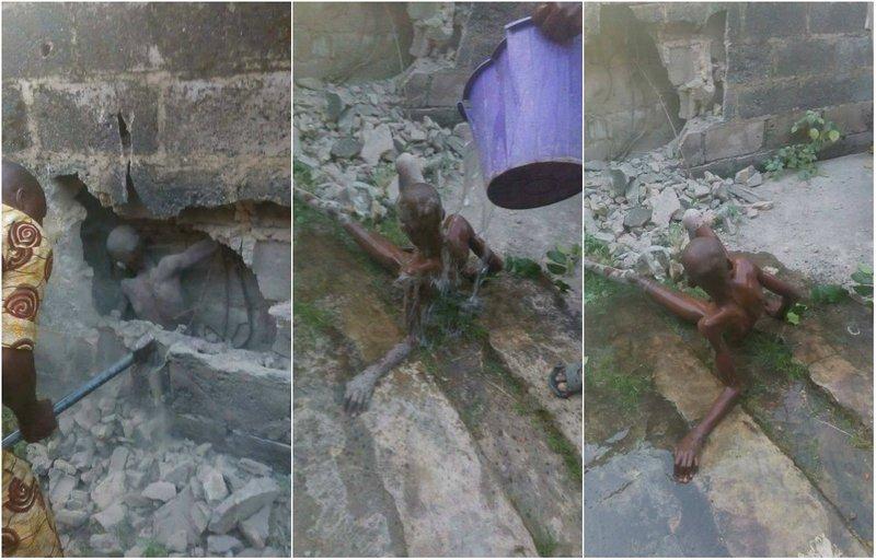 12-летнего пацана заживо замуровали в стену в Нигерии