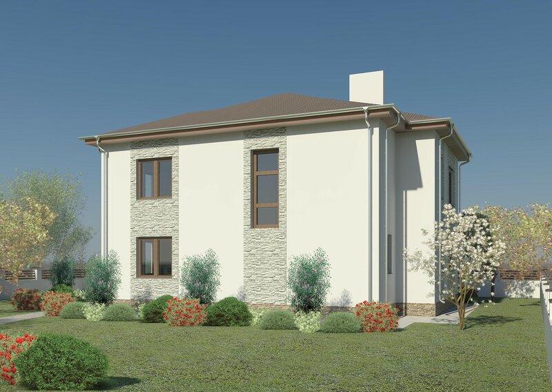 частный дом, проект, визуализация