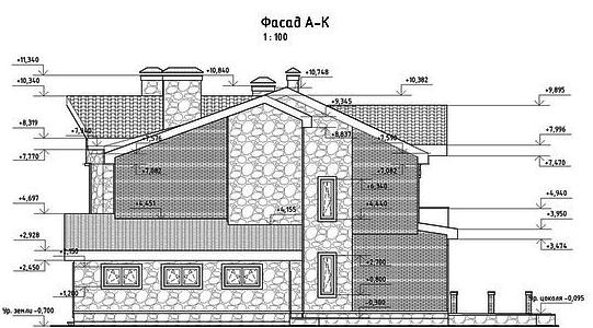 проект дома, фасад 3