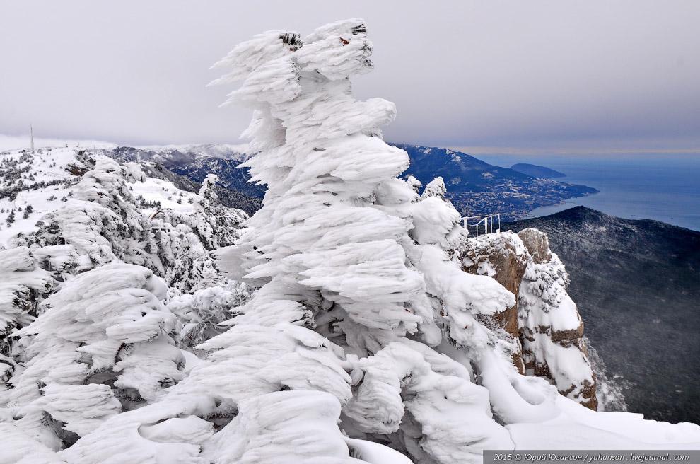 4. Радары в снегу.