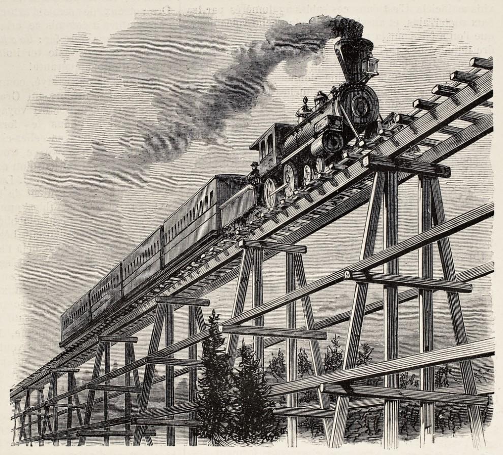 Первая в мире общественная железная дорога Стоктон — Дарлингтон открылась 27 сентября 1825 года. Дви
