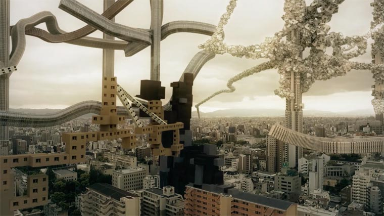 Spatial Bodies - If the city of Osaka was growing like a living organism