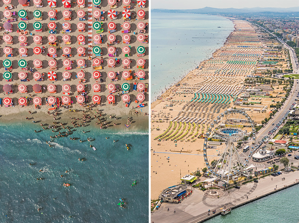 Several years ago, Munich-based photographer Bernhard Lang vacationed at a seaside resort in Adria,
