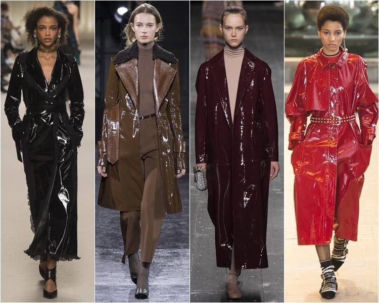 пальто и плащи из винила и лакированной кожи, мода осень-зима 2016-2017
