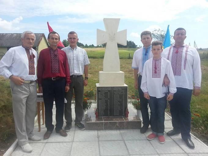 Свободовцы приняли участие в открытии памятника украинским жертвам Армии Крайовой