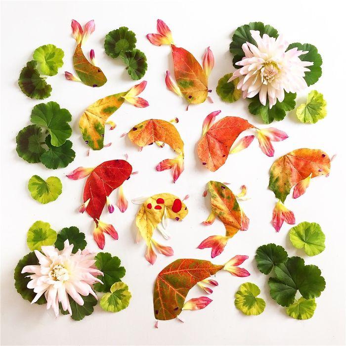 Художник Bridget Collins создает свежие живописные картины из цветов