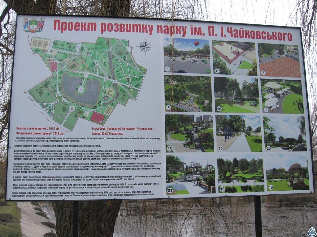 Информационный щит в городском парке
