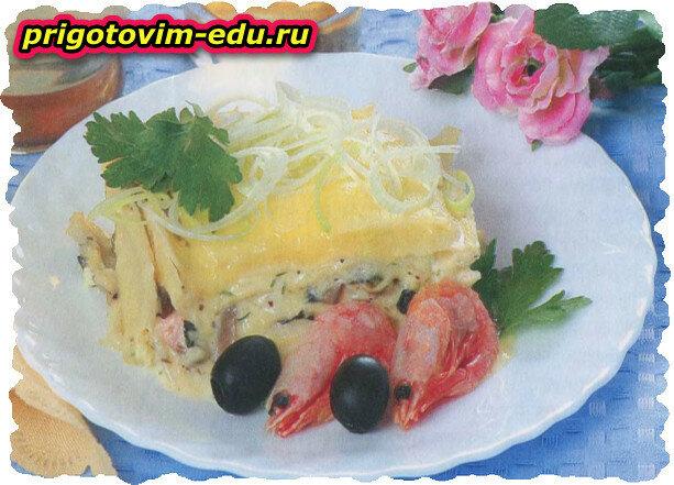 Итальянская лазанья с морепродуктами