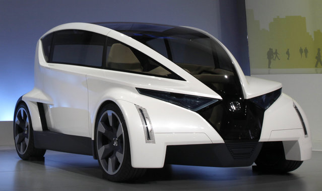 The Honda P-NUT (Personal Neo Urban Transport) concept vehicle is unveiled at the LA Auto Show in Lo