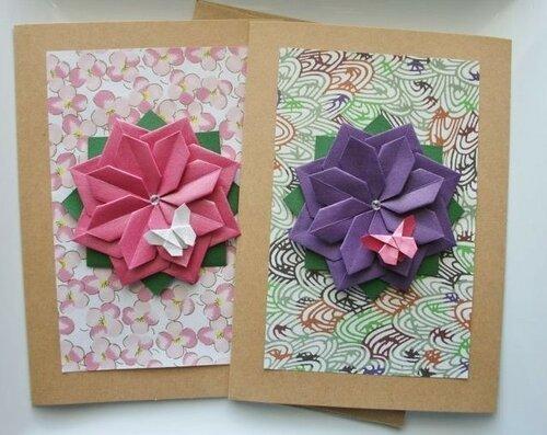Открытки с оригами
