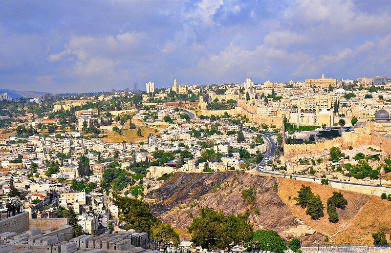 Гора Сион с монастырем Успения Богородицы на вершине