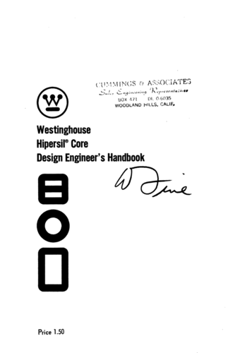 Hipersil® Core Design Engineer's Handbook - Westinghouse - Book Cover