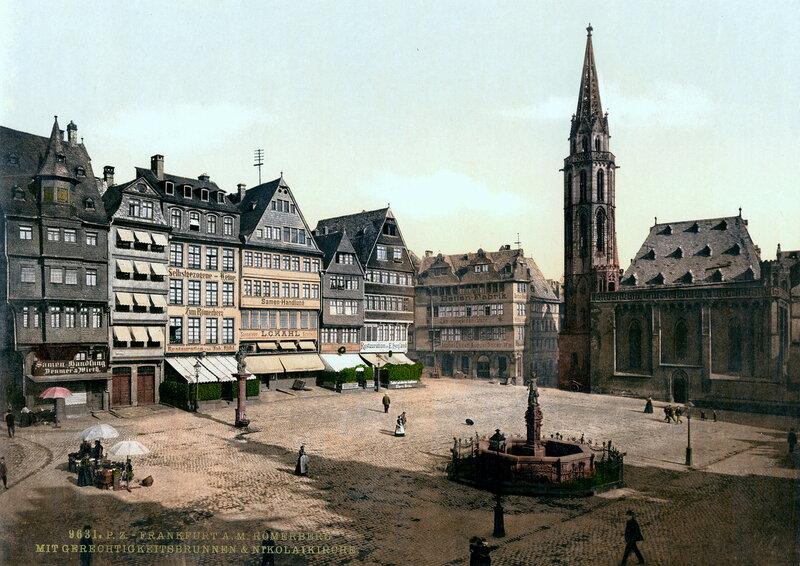 площадь Рёмерберг и церковь Св. Николая, конец XIX века