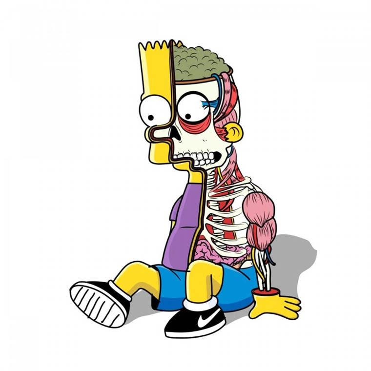 Bootleg Bart - Une excellente serie de mashups entre Simpson et pop culture