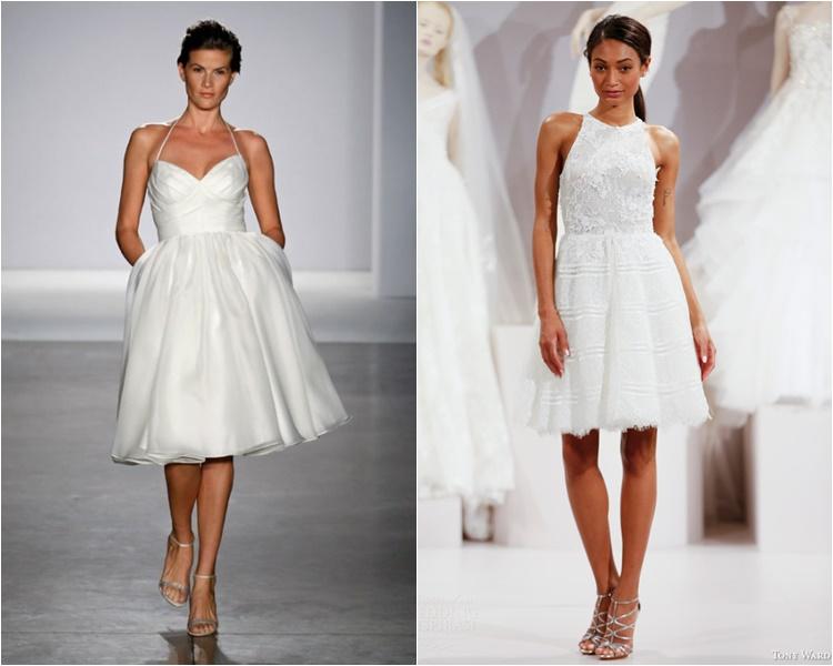 короткие свадебные платья 2016 фото 14