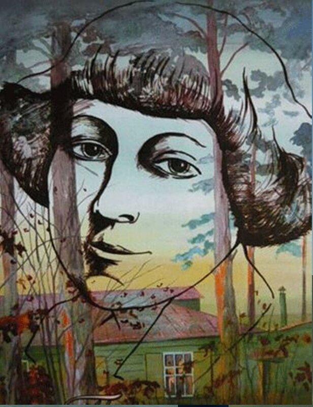 Марина Цветаева в Болшево. Фрагмент авторской работы В Клеруа.jpg