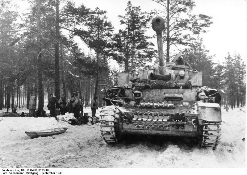 Russland, Panzer IV im Schnee