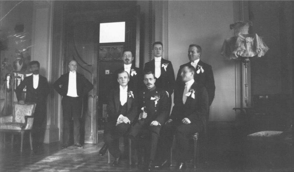 1909. Портрет свадебных гостей