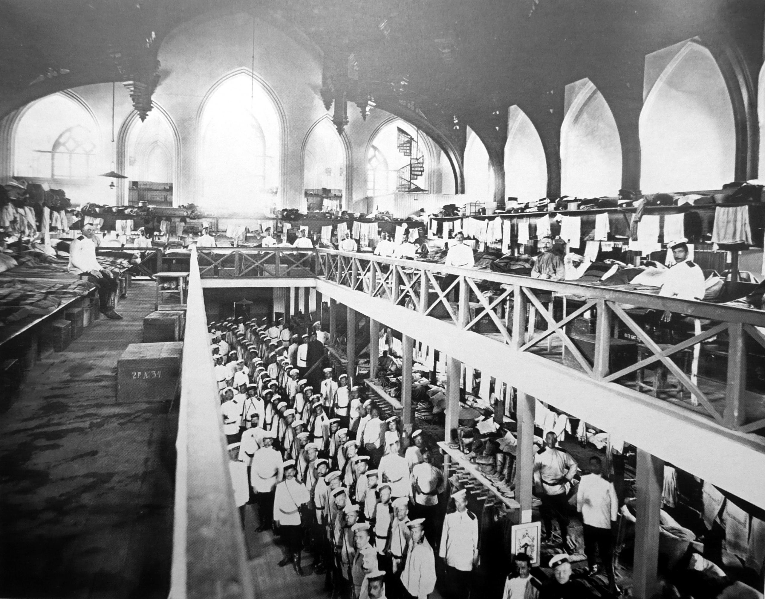 1906. Солдаты Собственного Е.И.В. Сводно-пехотного полка в казарме