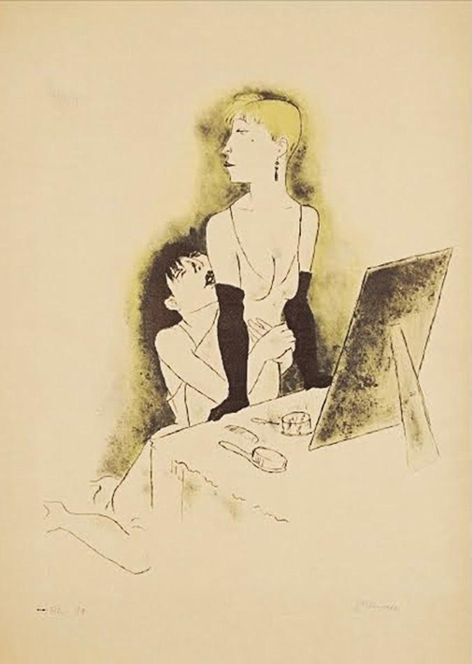 Jalousie.(jealousy) Jeanne Mammen (1890-1976)