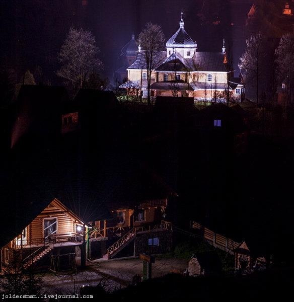 вид из окна пансионата ночью