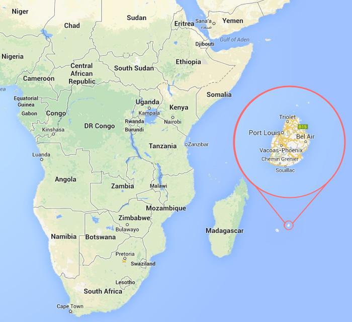 Где находится маврикий остров на карте мира