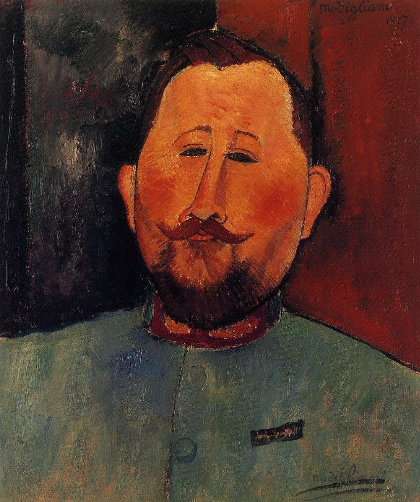 Portrait of Doctor Devaraigne - 1917 - PC - Painting - oil on canvas.jpeg