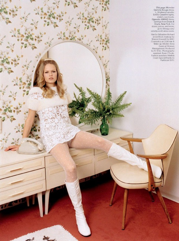 Анна Эверс (Anna Ewers) в журнале W Magazine (7 фото)