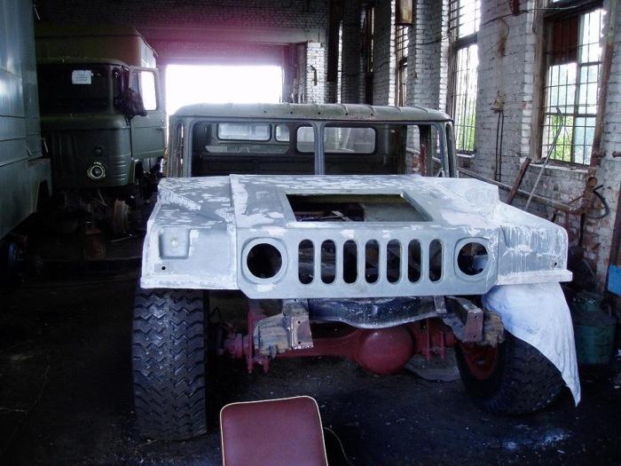 Самодельный Hummer H1 на базе ГАЗ-66