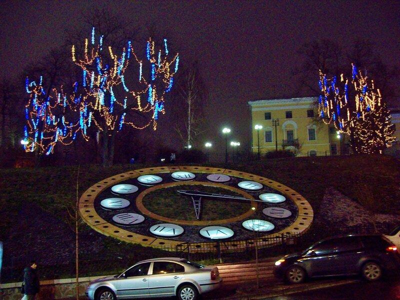 Цветочные часы на Новый год