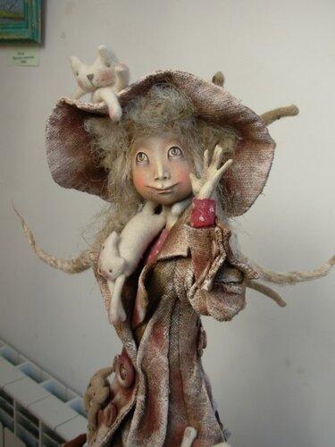 Коты полетели – авторская кукла Анны Зуевой