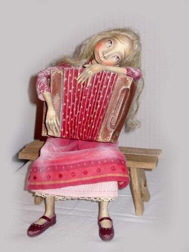 Музыка – авторская кукла Анны Зуевой