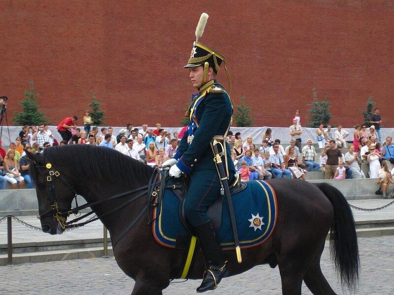 Церемониальный развод караулов Президентского полка (август 2007)