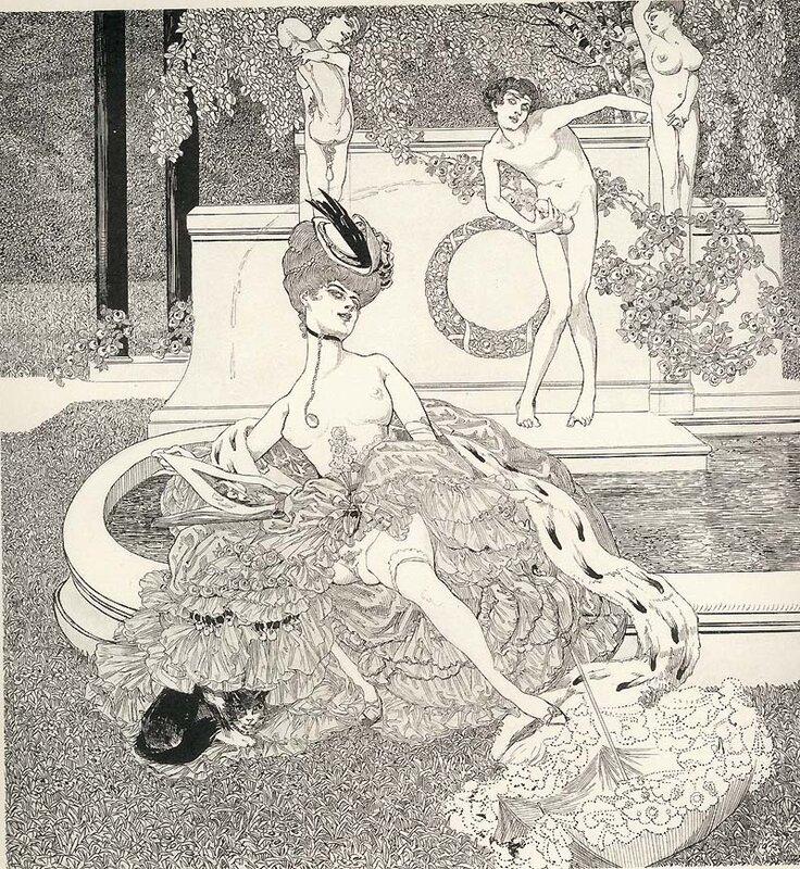 Эротическая современная гравюра, зрелую француженку в очках трахают у доктора порно