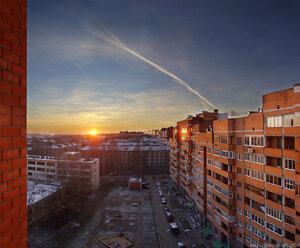 Студгородок город, закат, панорама, город, Чебоксары, HDR