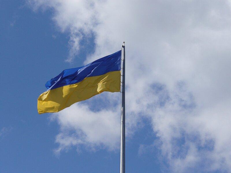 Флаг Украины на Майдане