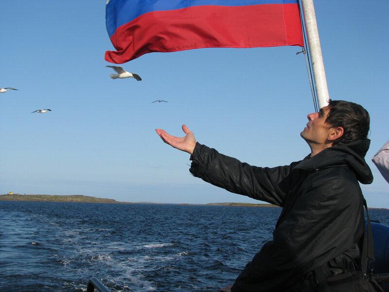 Андрей Травин на Белом море
