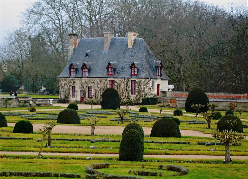 Сад Дианы де Пуатье замка Шенонсо (Chenonceau)