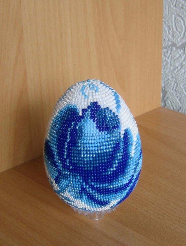 rosa2003 Гжель бисер яйца.