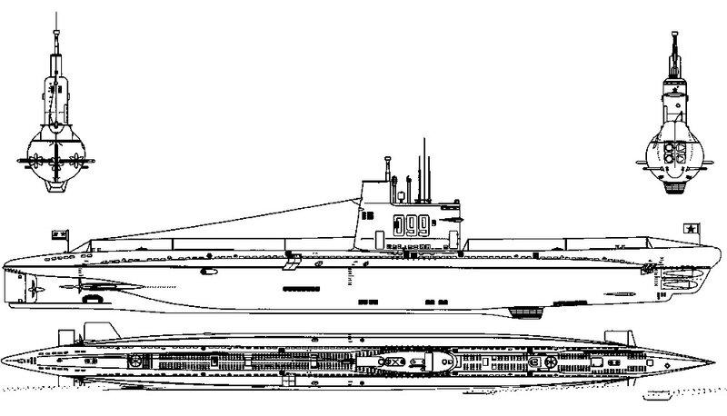 подводных лодок с дизелем,