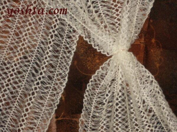 Вязание на вилке.  Изделия.  (С примесью тенерифы) yoshta / Осинка.