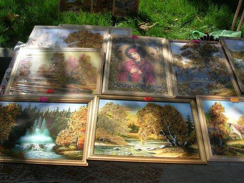 Набережная - Картины с янтарем